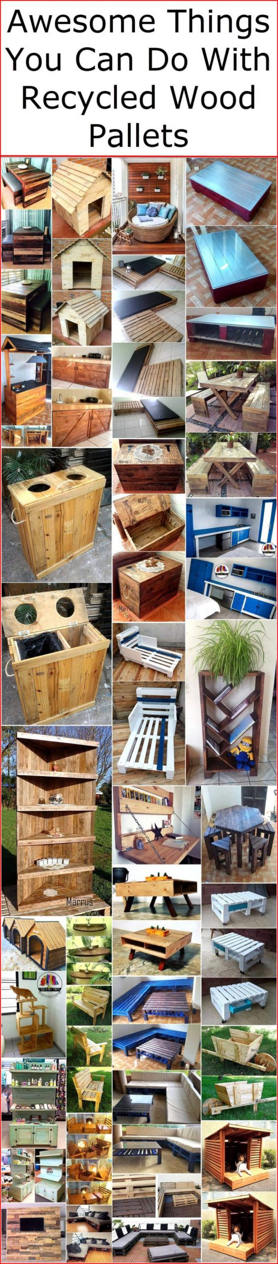 Gorgeous things to make from wooden pallets