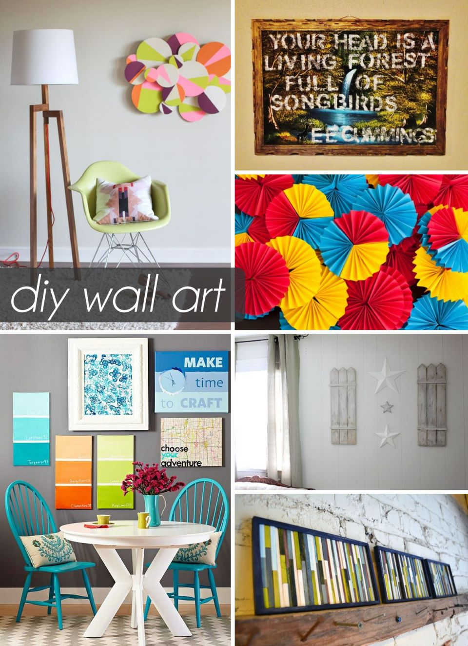 Gorgeous diy art projects to do at home