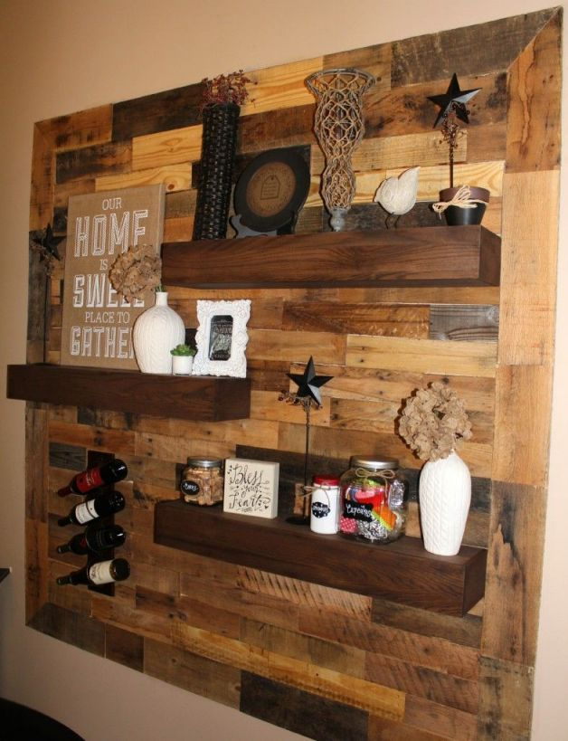 Adorable pallet ideas for walls