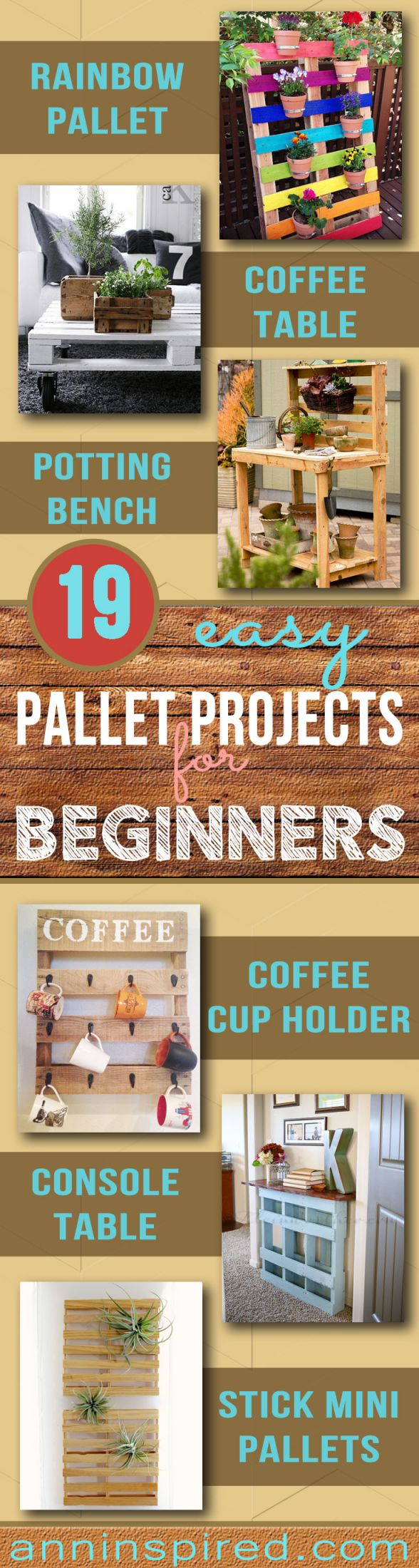 Wonderful pallet projects for beginners