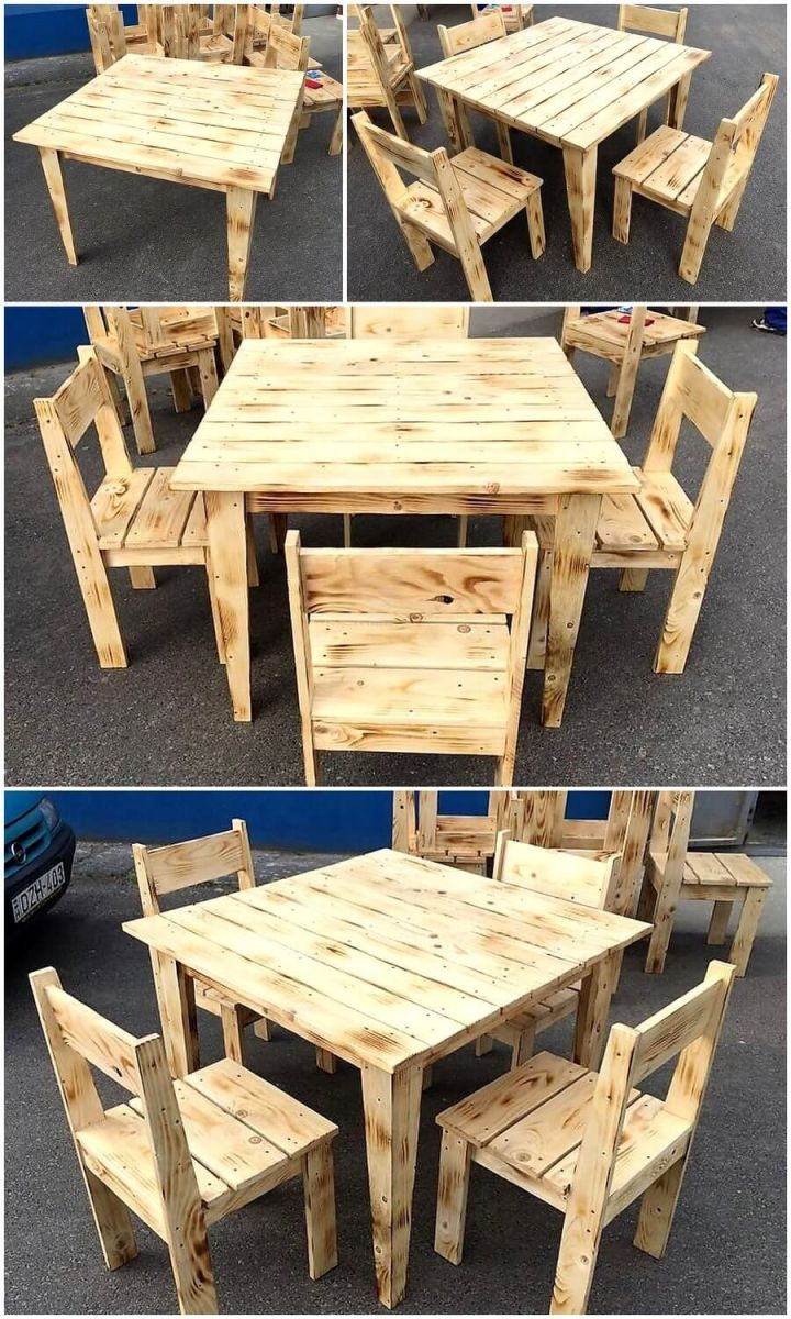 Beautiful simple pallet furniture