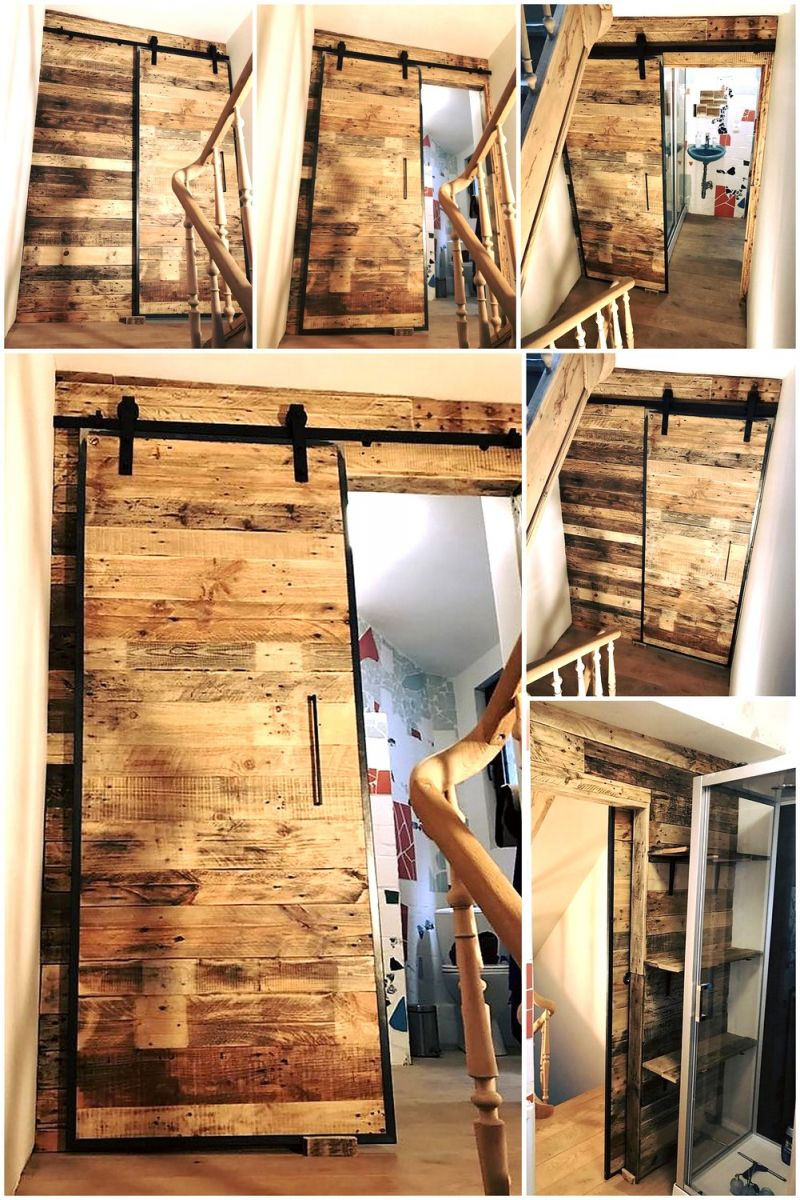 Adorable wooden pallet wall decoration