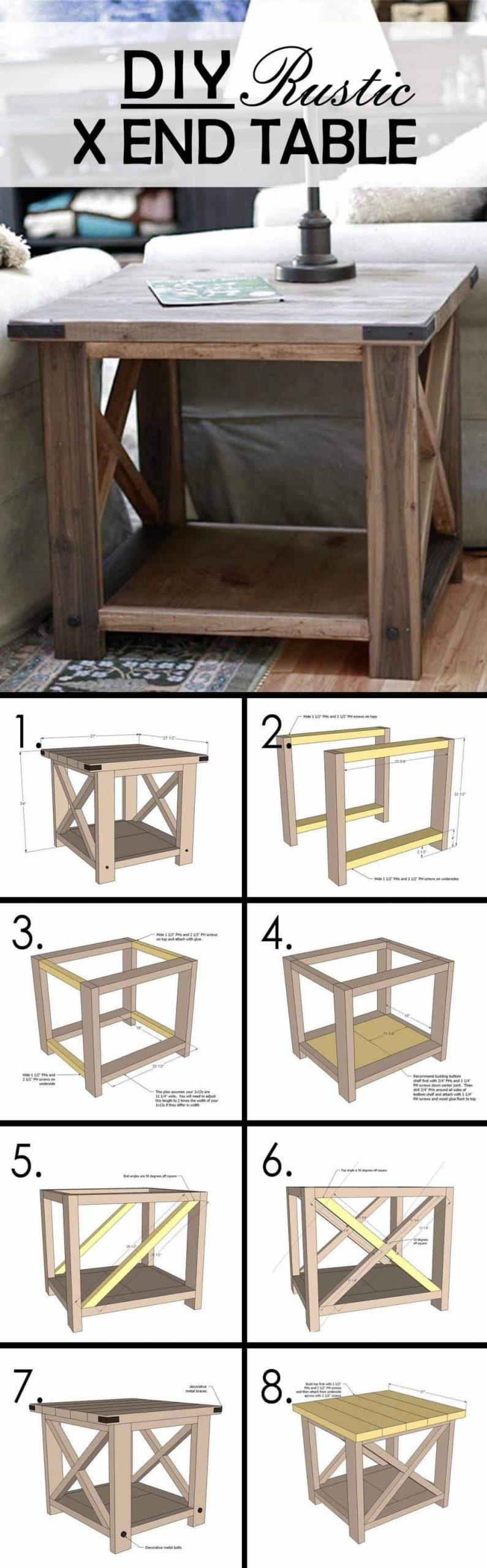 Fantastic build your own rustic furniture